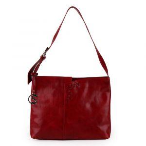 Sněžka Náchod Dámská kožená kabelka přes rameno 4643 – červená