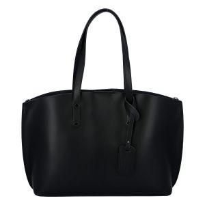 Dámská kožená kabelka černá – ItalY Jordana Two černá