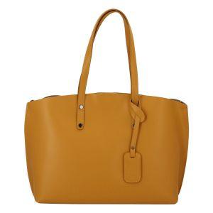 Dámská kožená kabelka hořčicová – ItalY Jordana Two žlutá