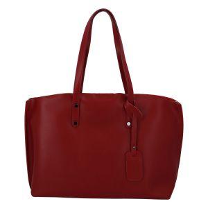 Dámská kožená kabelka tmavě červená – ItalY Jordana Two červená