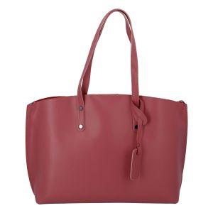 Dámská kožená kabelka tmavě růžová – ItalY Jordana Two růžová