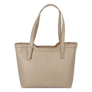 Tmavě béžová elegantní kožená kabelka ItalY Melisa béžová