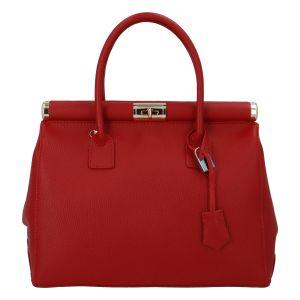 Módní originální dámská kožená kabelka do ruky červená – ItalY Hila červená