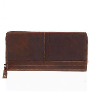 Dámská kožená peněženka hnědá – Tomas Xambo hnědá