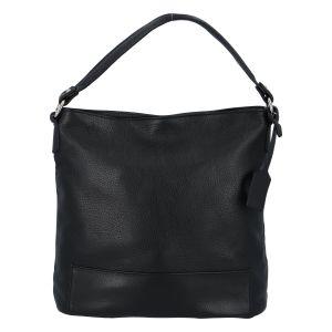 Dámská kožená kabelka přes rameno černá – ItalY Roterry černá