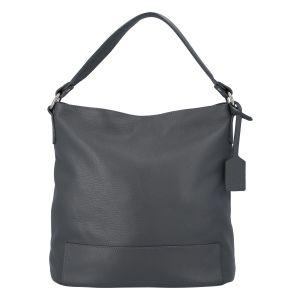 Dámská kožená kabelka přes rameno tmavě šedá – ItalY Roterry šedá
