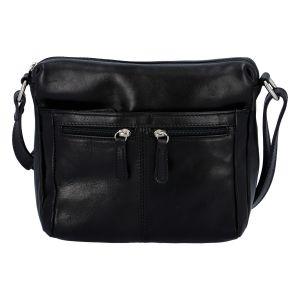 Dámská kožená crossbody kabelka černá – ItalY ItOff černá