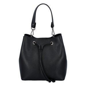 Dámská kožená kabelka černá – ItalY TianJin černá