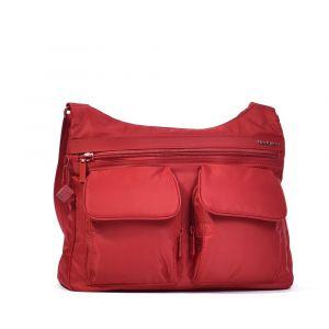 Hedgren Dámská kabelka přes rameno RFID Prarie – červená