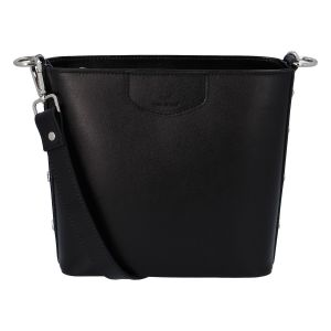 Dámská kožená kabelka černá – ItalY Koloseum černá