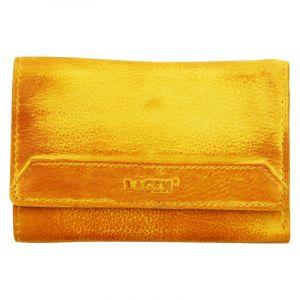 Dámská kožená peněženka Lagen Denisa – žlutá