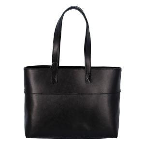 Dámská kožená kabelka přes rameno černá – ItalY Darknest černá