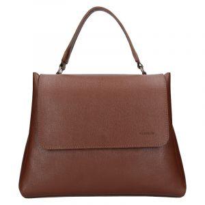 Dámská kožená kabelka Facebag Ditta – hnědá