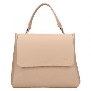 Dámská kožená kabelka Facebag Ditta – béžová