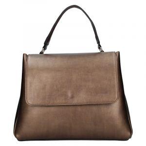 Dámská kožená kabelka Facebag Ditta – bronzová