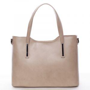 Menší kožená kabelka tmavě béžová – ItalY Alex krémová