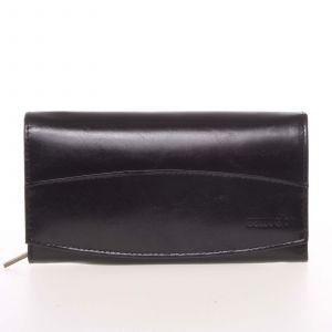 Velká elegantní kožená peněženka černá – Bellugio Olimpia černá