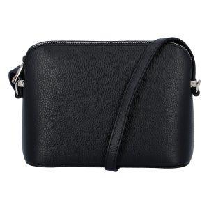Dámská kožená crossbody kabelka černá – ItalY M7772 černá
