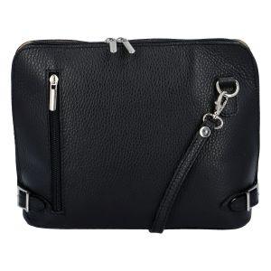 Dámská kožená crossbody kabelka černá – ItalY M0131 černá