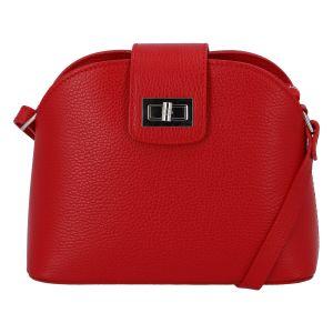 Dámská kožená crossbody kabelka červená – ItalY Brokylon červená