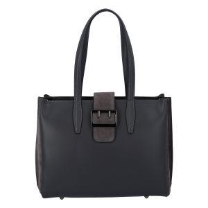Dámská kožená kabelka přes rameno tmavě šedá – ItalY Driada šedá