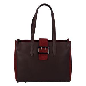 Dámská kožená kabelka přes rameno bordo – ItalY Driada vínová