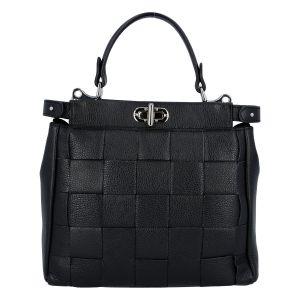 Dámská kožená kabelka černá – Italy Rotterda černá