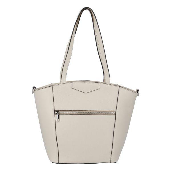 Dámská kožená kabelka přes rameno béžová – ItalY Zhoushan béžová