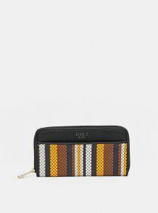 Hnědo-černá pruhovaná peněženka Bessie London