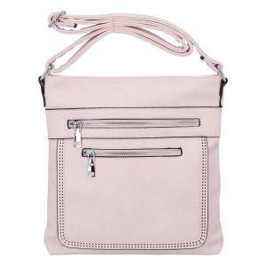 Moderní střední crossbody kabelka světle růžová – Delami Karlie růžová