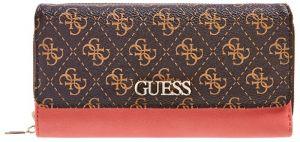 Guess Dámská peněženka Camy Slg Lrg Clutch Organizer SWSG77 41620 Brown Multi