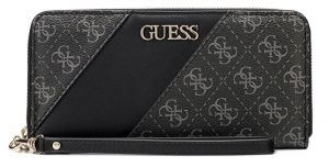 Guess Dámská peněženka Camy Slg Large Zip Around SWSG77 41460 Coal Multi