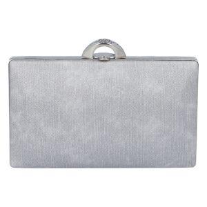 Luxusní dámské psaníčko stříbrné – Michelle Moon DaPirre stříbrná