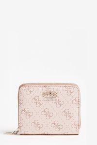 Guess pudrově růžová peněženka Camy 4G Logo Mini Wallet