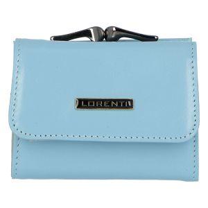 Malá kožená peněženka světle modrá – Lorenti 5287N modrá