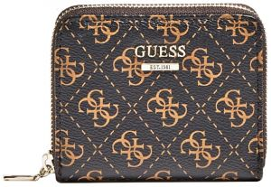 Guess Dámská peněženka Kamryn Slg Small Zip Around SWSF66 91370 brown