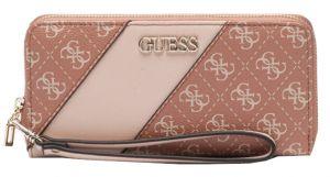 Guess Dámská peněženka Camy Slg Large Zip Around SWSG77 41460 Blush Multi