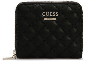 Guess Dámská peněženka Kamryn Slg Small Zip Around SWQD66 91370 Black