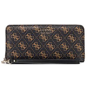 Guess Dámská peněženka Kamryn Slg Large Zip Around SWSF66 91460 Brown Multi