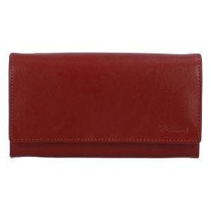 Kvalitní dámská kožená tmavě červená peněženka – Delami BAGL04104 červená