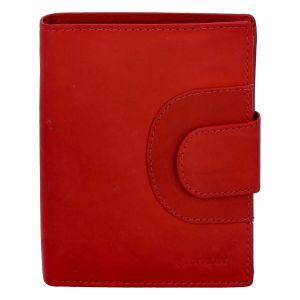 Pánská kožená prošívaná peněženka červená – Diviley Universe červená