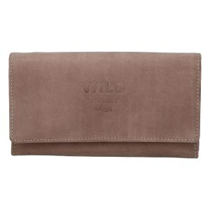 Dámská kožená peněženka taupe – WILD Riga taupe