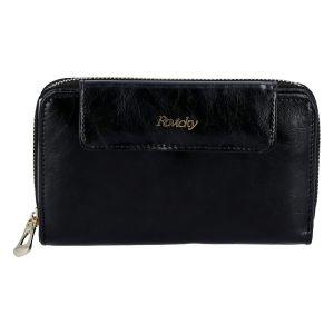 Dámská kožená peněženka černá – Rovicky 8808 černá