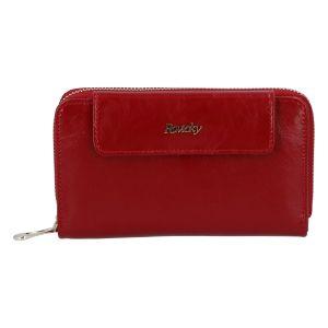 Dámská kožená peněženka červená – Rovicky 8808 červená