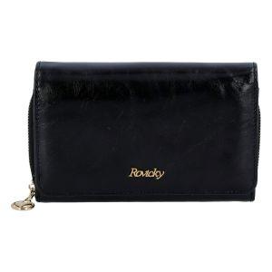 Dámská kožená peněženka černá – Rovicky 8806 černá
