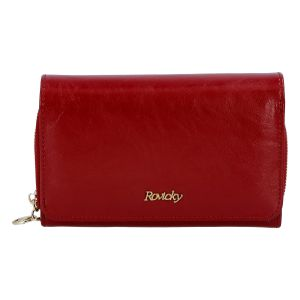 Dámská kožená peněženka červená – Rovicky 8806 červená