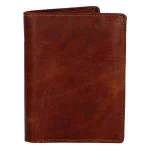 Pánská kožená peněženka hnědá – Tomas Palac hnědá