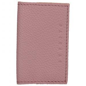 Kožený obal na karty Facebag Paris – růžová