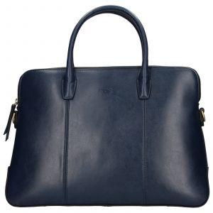 Elegantní dámská kožená kabelka Katana Celesta – tmavě modrá