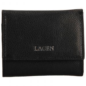 Dámská kožená peněženka Lagen Lucie – černá